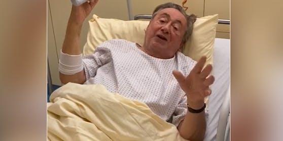 Richard Lugner liegt im Spital.