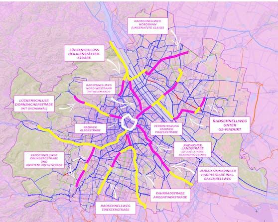 Die Neos fordern neun neue Schnellradwege für Wien