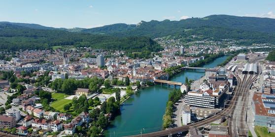 Die Kleinstadt Olten in der Schweiz.