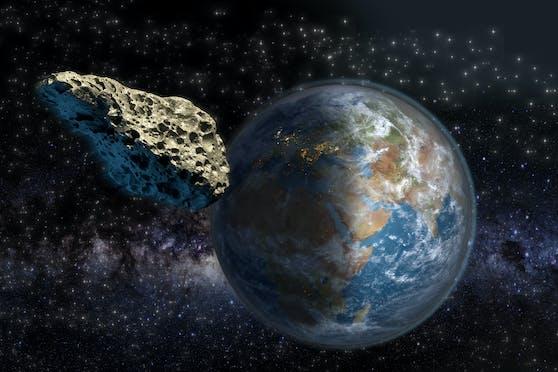 Ein Asteroid raste mit einer Geschwindigkeit von 12,4 Kilometern pro Sekunde unentdeckt an der Erde vorbei.
