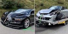 Bugatti vs. Porsche! Dieser Crash kostet Millionen
