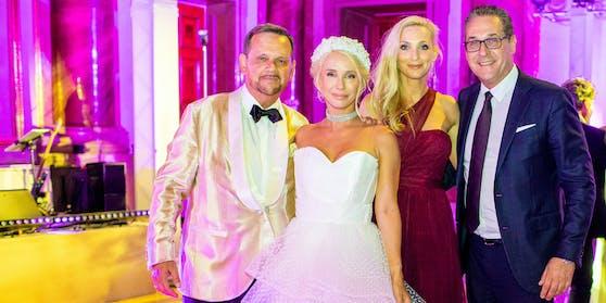 Unternehmer-Ehepaar Helmut und Katarina Kaltenegger, Philippa und Heinz-Christian Strache