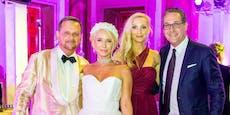 Trennungsgerüchte, aber Straches als Paar bei Hochzeit