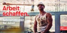SPÖ-Plakate noch ohne Ludwig, aber mit roten Kernthemen