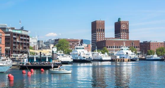 Der Hafen von Oslo, Norwegen. Archivbild