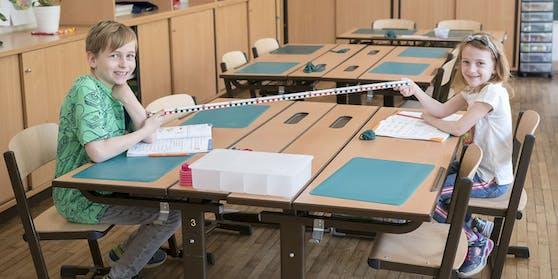 Auf Abstandhalten wird in der Sommerschule Wert gelegt.