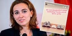 Justizministerin Alma Zadic wird Mama