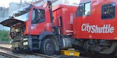 Unfall aufSüdbahnstrecke: Zug erfasste Lkw