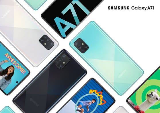 Samsung Bestseller Galaxy A71 jetzt mit zahlreichen neuen Features.