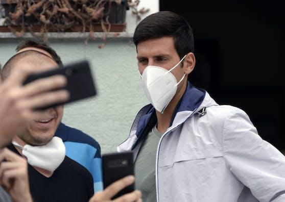 Novak Djokovic kann den Ausschluss zweier Tennis-Asse nicht verstehen.