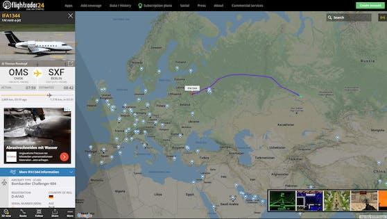 Der Flug IFA1344 gegen 07.00 Früh MEZ.