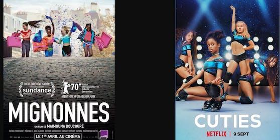 Links das Originalcover, rechts die adaptierte Version.