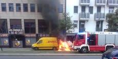 Ford ging in Wien während der Fahrt in Flammen auf