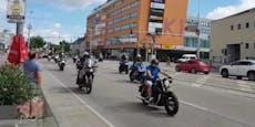 Biker demonstrieren in Wien gegen Fahrverbote