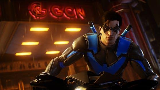 """Batman ist weg, andere müssen ran: Nightwing in """"Gotham Knights""""."""