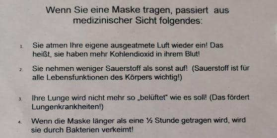Mit diesem Flugblatt sorgte der Steirer Arzt Franz Gradnig für Empörung.