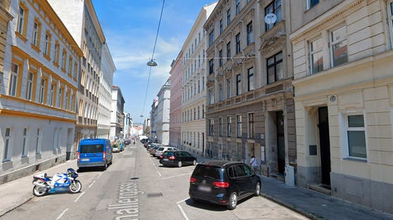 Blick in die Schallergasse in Wien-Meidling