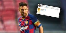 Messi-Hammer: Puyol gratuliert und Suarez applaudiert