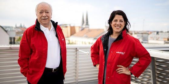Häupl mit Geschäftsführerin der Volkshilfe Wien, Tanja Wehsely.