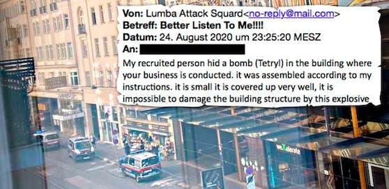 Diese E-Mail erging an mehrere Firmen in ganz Österreich.