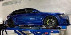 Polizei zieht aufgemotzten Audi RS6 aus dem Verkehr