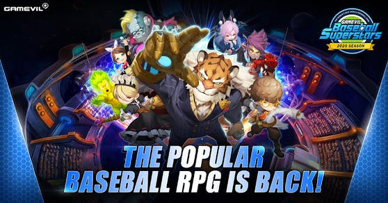 GAMEVILs Fantasy-Sports-RPG Baseball Superstars 2020 schlägt im Google Play & Apple App Store auf.