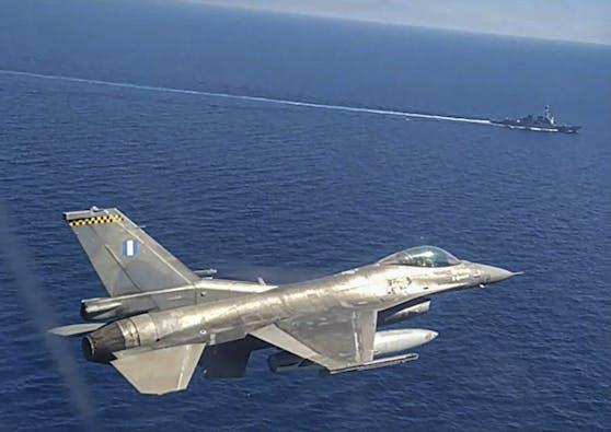 F-16 Kampfjet der griechischen Luftwaffe (Archivfoto vom 24.08.2020)
