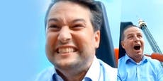 Wahlkampf extrem: Nepp wagt sich auf Prater-Achterbahn
