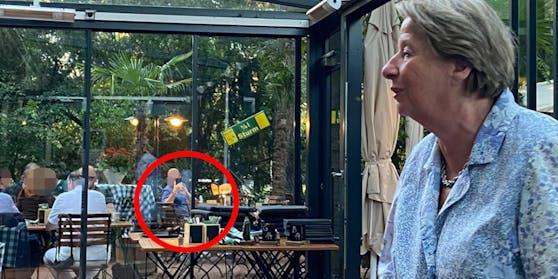Der Spion beim Nepp-Stammtisch – auch Ursula Stenzel war erstaunt.