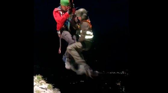 Rettung eines verunglückten Alpinisten im Dachstein-Massiv mit Unterstützung des Bundesheers (25. August 2020)