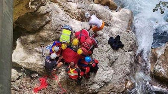 In der Tscheppaschlucht hat sich ein Canyoning-Unfall ereignet.