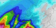 Vom Westen nähern sich nun starke Gewitter