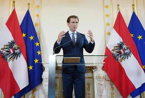 Bundeskanzler Sebastian Kurz bei seiner Rede an die Nation am 28. August 2020.