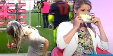 Bierdusche und TV-Lachanfall - Das ist Kristina Inhof