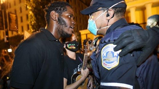 """Black Lives Matter""-Protest in Washington D.C. am 27. August 2020"