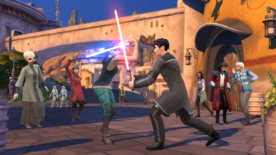 Die Sims erhalten Lichtschwerter.