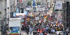Aufgeheizte Stimmung bei Corona-Demo in Berlin