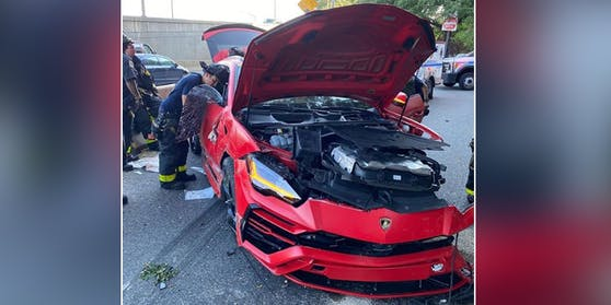 Der Lamborghini Urus von Rapper Aasp Bari ist nur noch Schrott.