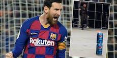 Echt oder Fake? Messi verblüfft Fans mit Trickshot