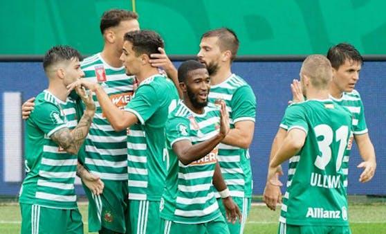 Rapid jubelt über den Auftaktsieg im ÖFB-Cup