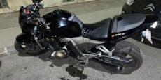 Öl-Anschlag, weil Motorrad eines Wieners zu laut ist