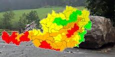 Warnstufe Rot! Unwetter-Alarm für fünf Bundesländer