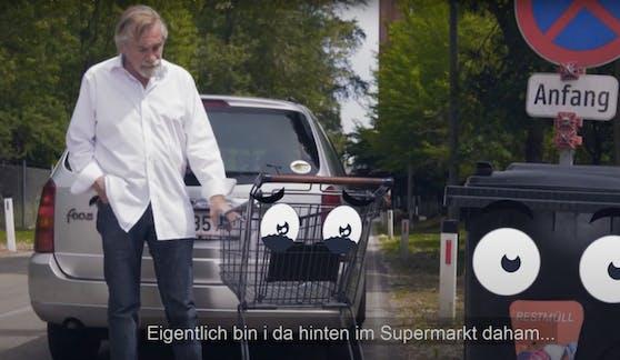 """Peter Rapp widmet sich in seiner neuen YouTube-Folge den """"Einkaufswagerl-Entführungen""""."""