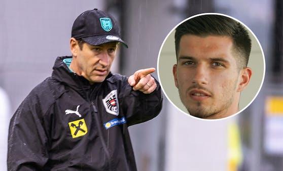 Teamchef Foda musste im ersten Training mit dem ÖFB-Team auf Adrian Grbic verzichten