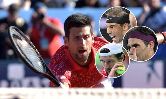 Federer, Nadal und Melzer sind sauer auf Djokovic (l.)
