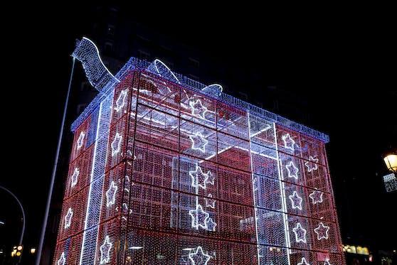 Die spanische Stadt Vigo ist eine beliebte Destination für weihnachtliche Lichterspiele.