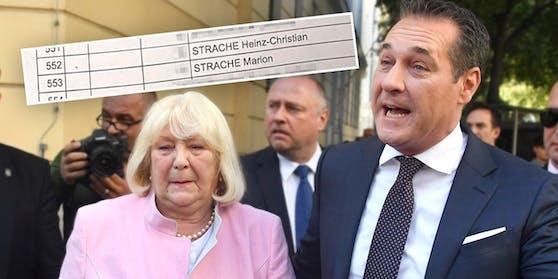 Heinz-Christian Strache ist an der selben Adresse wie Mama Marion (l.) gemeldet. Im Bild: Mutter und Sohn bei ihrer Stimmabgabe zur Nationalratswahl 2017