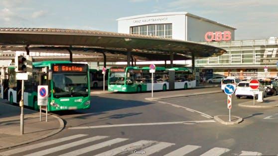Der Nahverkehrsdrehscheibe am Grazer Hauptbahnhof