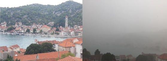 Unwetter in Tisno (Kroatien)