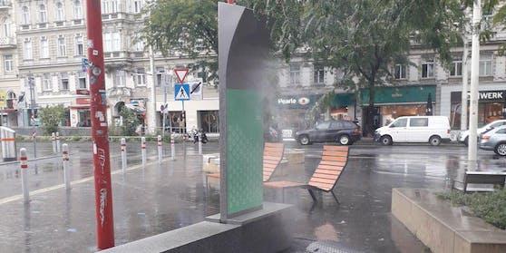 """Der """"coolen Straße"""" am Christian-Broda-Platz ist es wohl immer noch zu heiß."""
